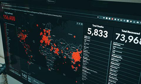 Data displaying on the screen