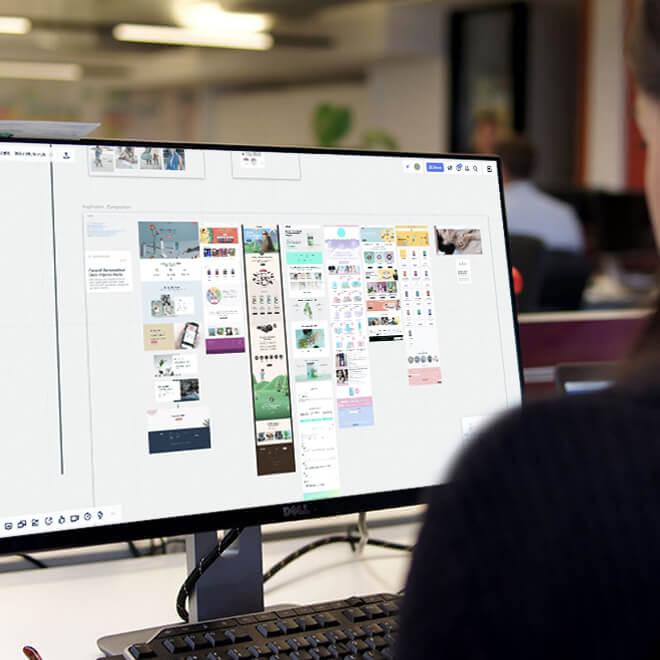 Pesron on computer
