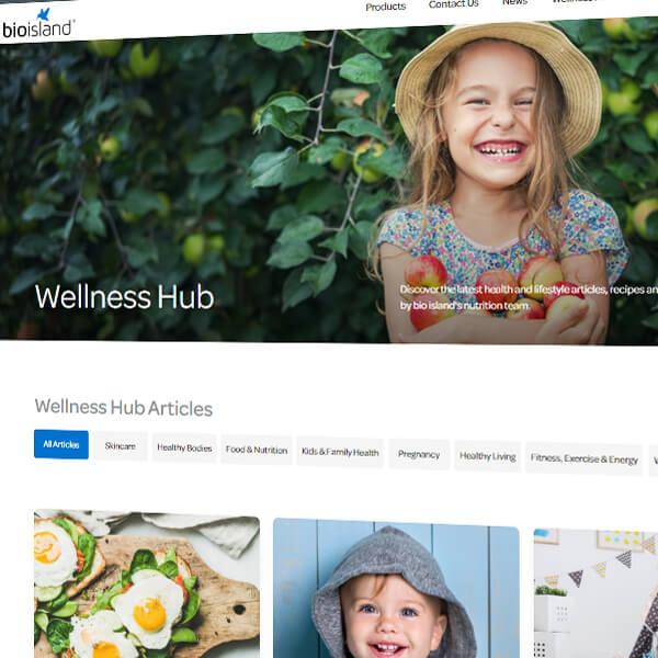 Bio Island Wellness Website Page