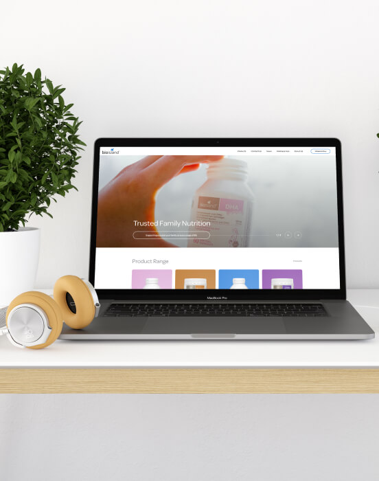 Computer with Bio Island Home Page