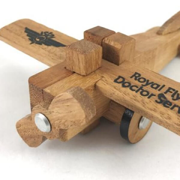 Toy Wooden Royal Flying Doctor Aircraft
