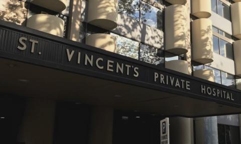 Saint Vincent Hospital sign